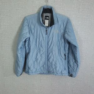 North Face Snowflake Star Quilted Zip Up Jacket